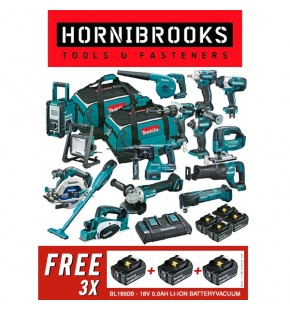 Makita Brushless 18v 15 Piece Combo Kit  DLX1502PT