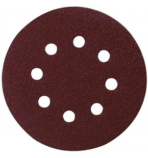 SANDING DISC 125MM / 80# PUNCHED X10 EACH