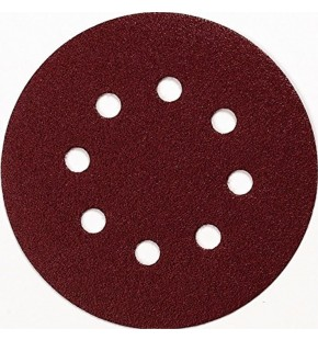 SANDING DISC 125MM / 100# PUNCHED X10 EACH