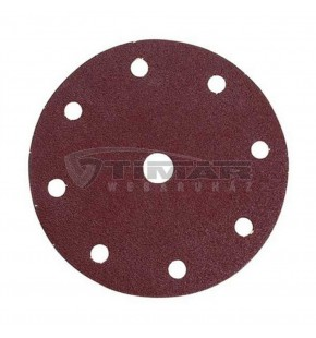 SANDING DISC WHITE 150MM/40#PUNCHED X50 EACH