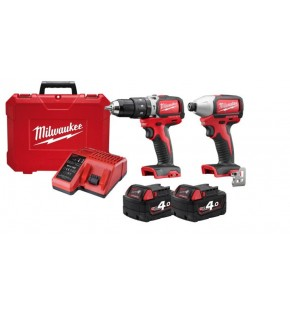 MILWAUKEE COMPACT BRUSHLESS DRILL & DRIVER KIT Each