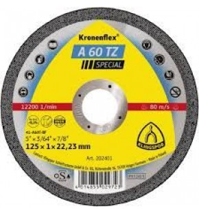 CUT OFF WHEEL 125MM X 1.0MM X 22.23MM Each