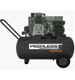 PEERLESS BLACK PB14000 AIR COMPRESSOR 220 LPM 10 AMP ELECTRIC 2.5 HP 50L TANK