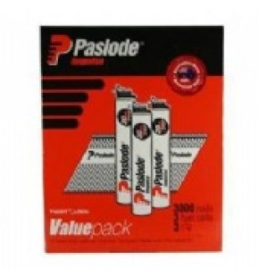 PASLODE IMPULSE 75MM GALVANISED NAILS WITH GAS BOX/3000