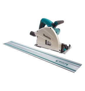 MAKITA 165MM DUSTLESS SAW INCLUDING 1400MM GUIDE RAIL EACH