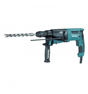 MAKITA 26MM 800W ROTARY HAMMER DRILL - INCLUDES INTERCHANGEABLE CHUCK EACH