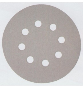 SANDING DISC WHITE 125MM/60# PUNCHED X10 EACH