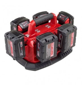 Milwaukee M18 6 Pack Charger - Sequential Charging M1418C6 Each
