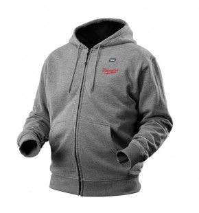 MILWAUKEE M12 HEATED HOODIE GREY EXTRA LARGE - M12HHGREY9-0XL EACH
