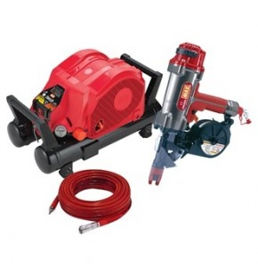 MAX HIGH PRESSURE KIT INC COMPRESSOR, HOSE AND CONCRETE NAILER Each