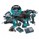 Makita XGT 6 Piece Brushless Combo Kit  DK0115G601 Each