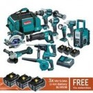 Makita Brushless 18v Cordless 10 Piece Kit DLX1014TX1 EACH