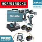 MAKITA DLX2176T 2 PIECE 18v HEAVY DUTY BRUSHLESS KIT INCLUDES 2 X 5.0AH BATTERIES
