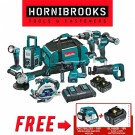 Makita 18v 8 piece Cordless Combo Kit DLX8016PT