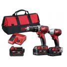 MILWAUKEE 2 PIECE DRILL AND DRIVER KIT 18V Each