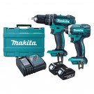 MAKITA CORDLESS 2 PIECE DRILL & DRIVER KIT 2 X 3.0AH BATTERIES Each