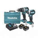 MAKITA 2PCE BRUSHLESS COMBO KIT WITH 5.0AH BATTERIES EACH