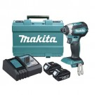 MAKITA CORDLESS 18 VOLT BRUSHLESS IMPACT DRIVER INCLUDING 2 X 3.0AH BATTERIES EACH