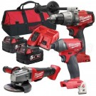 M18 FUEL BRUSHLESS CORDLESS 3 PIECE KIT (FPD,FID,CAG125) EACH