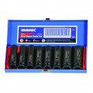 "KINCROME 8 PIECE 1/2"" DRIVE METRIC DEEP IMPACT SOCKET SET EACH"