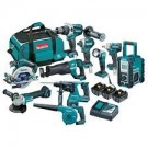 Makita Brushless 18v Cordless 10 Piece Kit DLX1014TX1