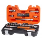 "BAHCO 34PCE 1/4"" & 3/8"" DRIVE METRIC SOCKET SET EACH"