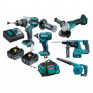 MAKITA 18 VOLT 5 PIECE CORDLESS KIT DLX5035T  EACH