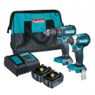 MAKITA BRUSHLESS 2 PIECE DRILL & DRIVER KIT DLX2283SM EACH