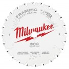 "Milwaukee 165mm (6-1/2"") 24-Tooth Framing Wood Circular Saw Blade 48408620 EACH"