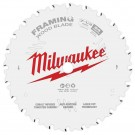 "Milwaukee 184mm (7-1/4"") 24-Tooth Framing Wood Circular Saw Blade 48408720 EACH"