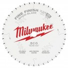 "Milwaukee 184mm (7-1/4"") 24-Tooth Fine Finish Wood Circular Saw Blade 48408726 EACH"