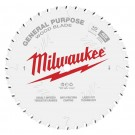 "Milwaukee 254mm (10"") 40-Tooth General Purpose Wood Circular Saw Blade 48408024 EACH"