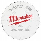 "Milwaukee 254mm (10"") 80-Tooth Ultra Fine Wood Circular Saw Blade 48408032 EACH"