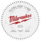 "Milwaukee 184mm (7-1/4"") 60-ToothUltra Fine Finish Wood Circular Saw Blade 48408730 EACH"