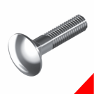 CUP HEAD SQ NECK BOLT STAINLESS 316 GRADE M12x120MM BOX/25