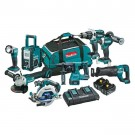 MAKITA 8 PIECE KIT WITH 6.0AH BATTERIES DLX8016PG EACH
