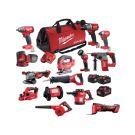 MILWAUKEE 18V CORDLESS 14 PIECE COMBO KIT  M18FPP14A2-853B EACH