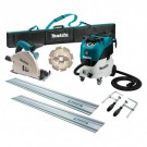 Makita 165mm Plunge Cut Circular Saw Kit and 42L Wet/Dry M Class Vacuum SP6000J-VC42M