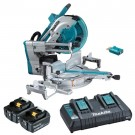 "Makita 36V (18V x 2) 5.0Ah Li-ion Cordless Brushless AWS 305mm (12"") Slide Compound Mitre Saw Combo Kit  DLS211PT2U EACH"