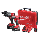 MILWAUKEE FUEL 2 PIECE KIT - IMPACT WRENCH & DRILL M18FPP2C2-502C  EACH