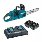 "Makita 18Vx2 350mm(14"") Brushless Chainsaw 5.0Ah Set DUC355PT2 EACH"