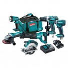 MAKITA 6 PIECE 18 VOLT COMBO KIT EACH