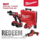 MILWAUKEE M18 FUEL GEN 3 CORDLESS 2 PIECE KIT M18FPP2A2-502C