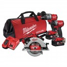 Milwaukee 18V FUEL Brushless 3 Piece Combo Kit  M18FPP3J2-502B