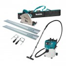 MAKITA 165MM PLUNGE CUT SAW AND VACUUM KIT