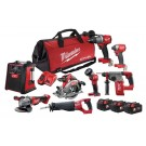 MILWAUKEE 18V CORDLESS 8 PIECE BRUSHLESS KIT M18FPP8A2-503B EACH